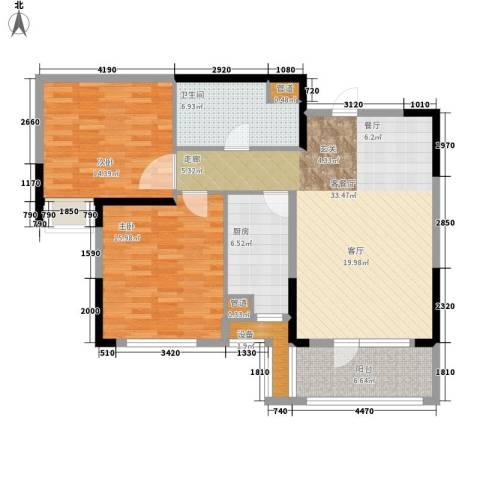 鼎盛国际公寓98.00㎡面积9800m户型