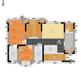 戛纳湾96.00㎡三期1、2、3号楼标准层A1户型