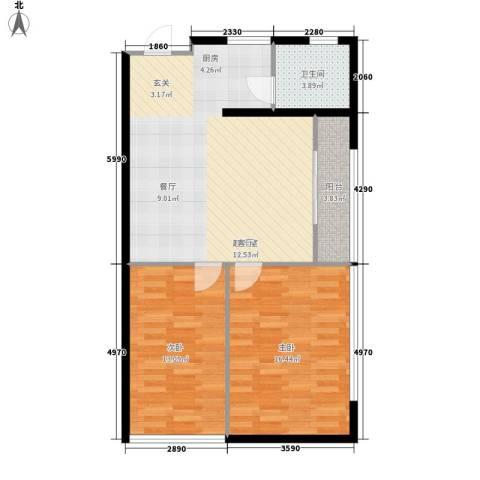 蚂蚁工房73.27㎡面积7327m户型