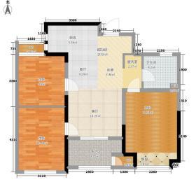 新城香溢俊园87.00㎡蜜意空间户型3室2厅