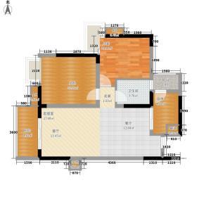 中海誉城85.00㎡A2-05户型2室2厅