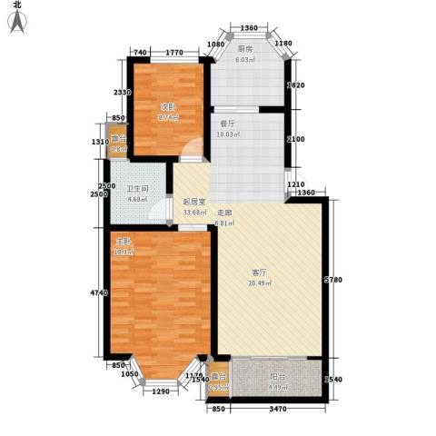 港岛花园88.75㎡一期38号楼标准面积8875m户型-副本