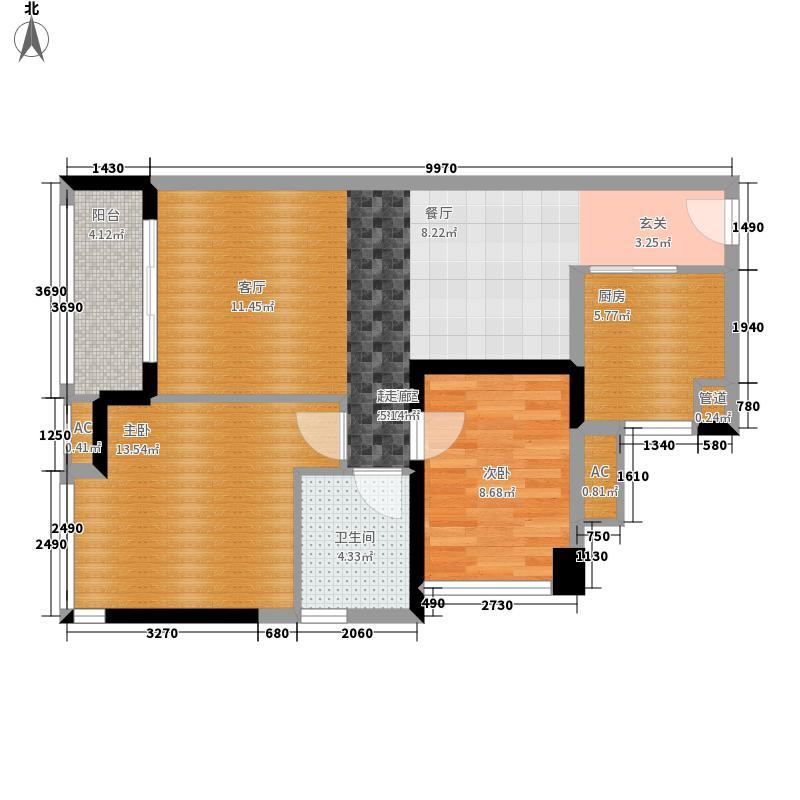 中海橡园国际76.55㎡4栋03单元户面积7655m户型