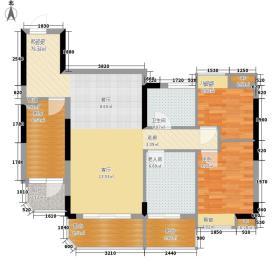 盛大蓝庭96.56㎡D栋06单元3室2面积9656m户型