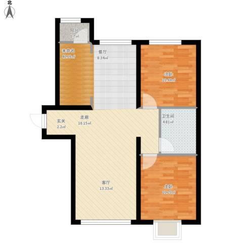 御龙湾103.85㎡B1B2号楼3-33层A1A2号楼3-25层B3户型-副本-副本
