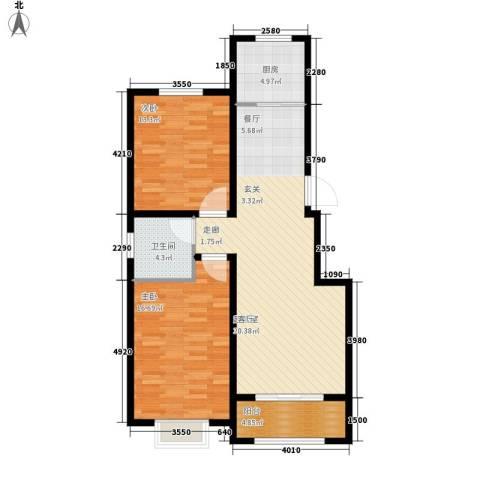 滏东尚城滏东尚城两室两厅一卫85平米户型3室2厅1卫-副本