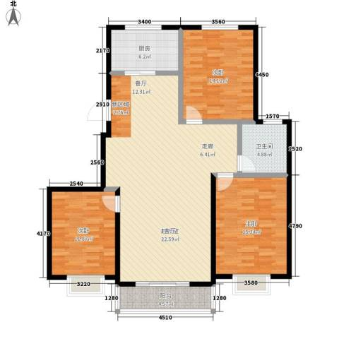 滏东尚城滏东尚城三室两厅一卫112.59平米户型3室2厅1卫-副本