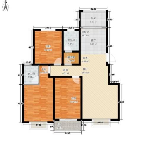 滏东尚城滏东尚城三室两厅两卫123.56平米户型3室2厅2卫-副本