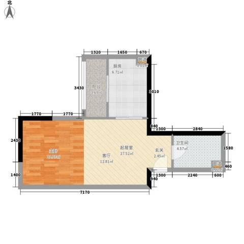 东鸣轩48.94㎡B栋10-29层41面积4894m户型