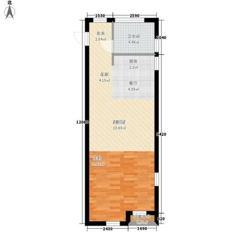 港城凯旋国际57.00㎡单身公寓户型