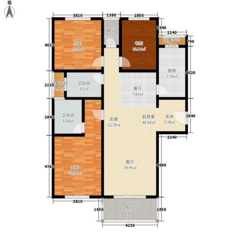 江南缘135.00㎡c房型面积13500m户型-副本