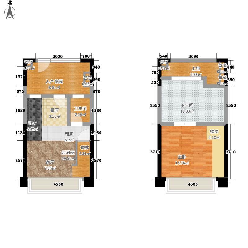 00㎡lomol1型小复式公寓户型