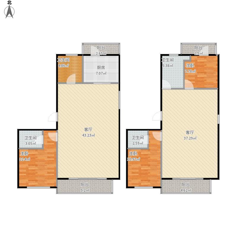 54平米两层复式楼户型图大全