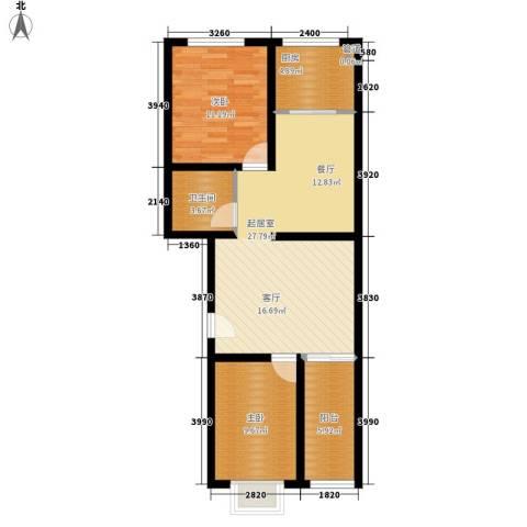 新新家园84.00㎡二号楼-B型面积8400m户型