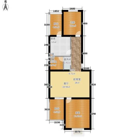 新新家园80.32㎡三号楼-C2面积8032m户型