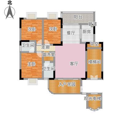 苏仙御景湾130.83㎡二期1栋4单元 三室两厅两卫户型...