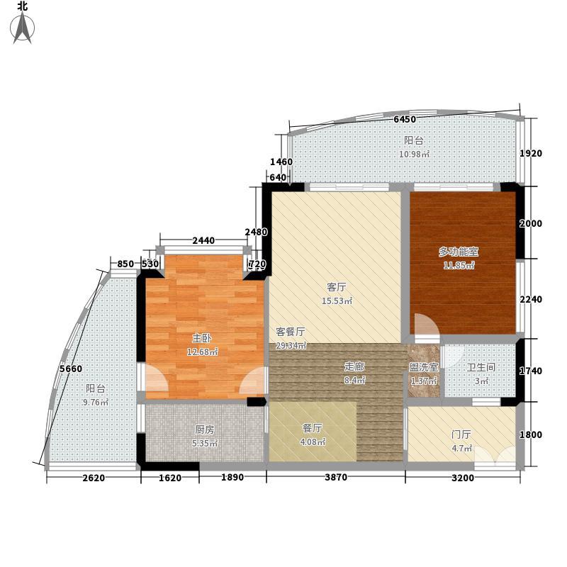 00㎡一期10户型  海南 琼海 半岛花园 建筑面积:99平方米 &#58888