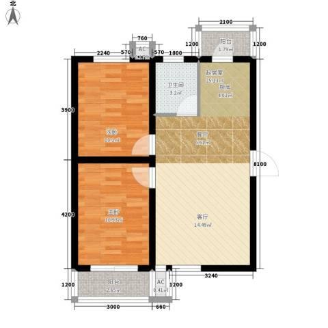 滨海未来城77.34㎡二期17号楼18层A户型