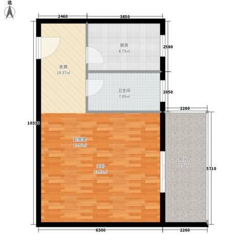 鸿港国际公寓78.00㎡面积7800m户型