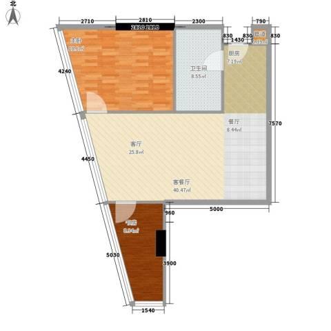 深圳湾92.00㎡A栋17-39层公寓套房A户型