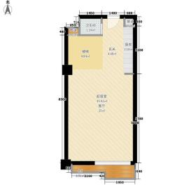 莲洋大观88.00㎡公寓标准层复式E一层户型