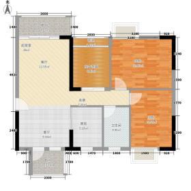 保利山水怡城89.71㎡1、2单元03、05号房户型2室2厅1卫1厨