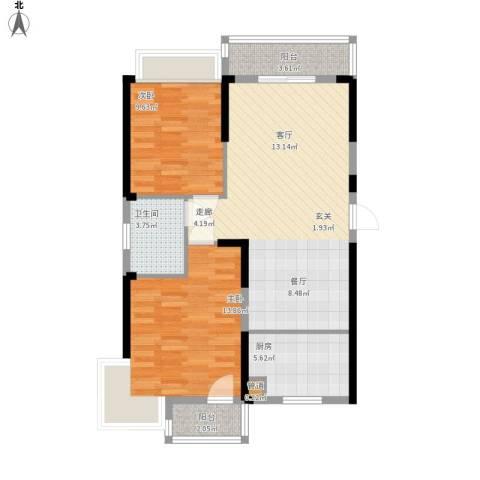 东湖御院户型图3号楼I户型图面积92.28㎡