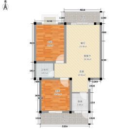 丛林苑两室一厅户型
