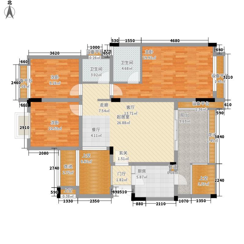 融汇江山融汇半岛香缇漫山8号楼4层户型3室2厅