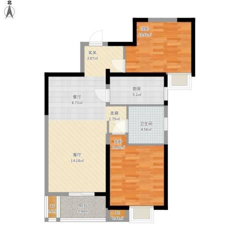 名湖豪庭户型图11号楼B5户型2面积89㎡