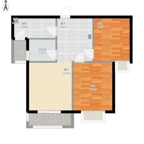 星光银河湾户型图A2户型2室1厅78㎡