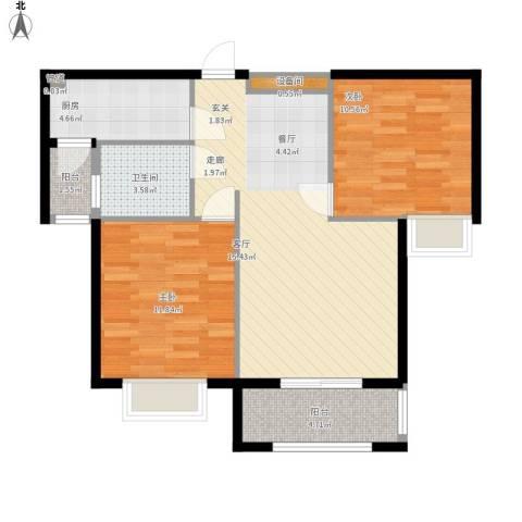 星光银河湾户型图02户型2室2厅82㎡