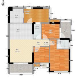 公馆原著92.99㎡公馆原著户型图6座D单位3室2厅2卫户型3室2厅2卫