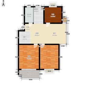 二泉东园120.60㎡F户型3室2厅1卫1厨