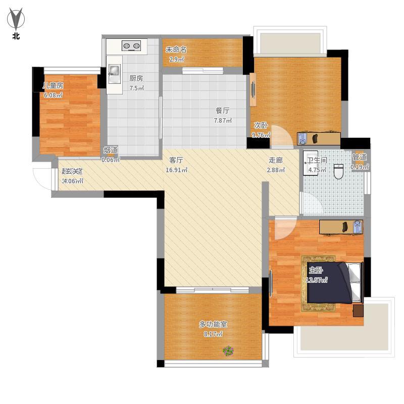 广东 广州 广州-广州雅居乐花园浅山小筑-设计方案 户型图