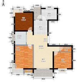 红菱苑118.98㎡红菱苑118.98㎡3室2厅1卫1厨户型3室2厅1卫1厨