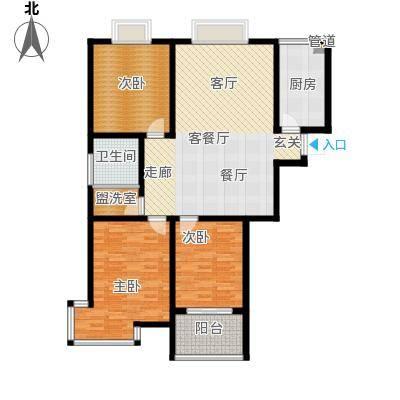翡翠明珠119.42㎡3室2厅1卫
