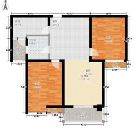 新乡宝龙城市广场93.00㎡B2户型2室2厅1卫