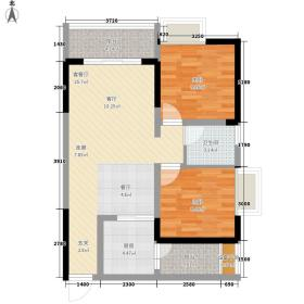 名敦道南滨国际公寓63.58㎡A14面积6358m户型