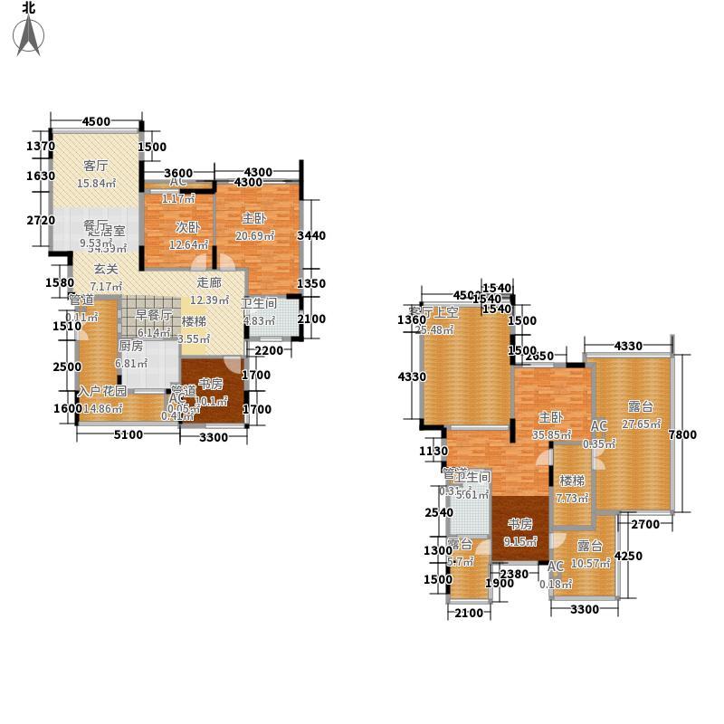 45㎡退台式花园洋房五层a4户型图片
