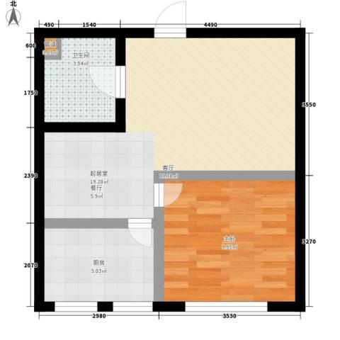 顶佳金领地59.00㎡一期高层1、2#楼标准层A5户型