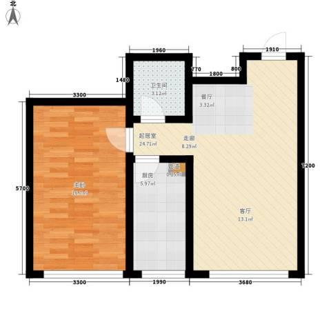 顶佳金领地76.00㎡二期高层3#楼标准层C2户型