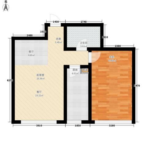 顶佳金领地75.63㎡二期高层3#楼标准层C3户型