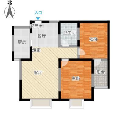 衡水花香维也纳2室2厅1卫 91平米户型2室2厅1卫