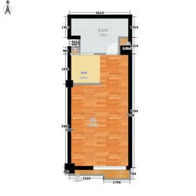 莲洋大观88.00㎡公寓标准层复式E二层户型