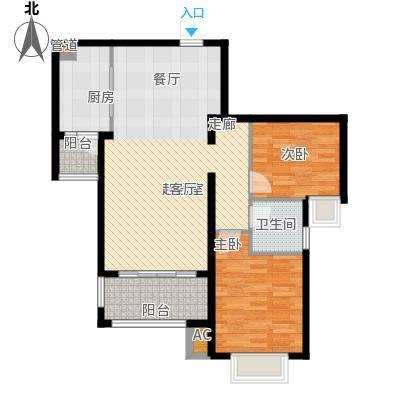 新华联广场103.00㎡A-2户型2室2厅1卫户型2室2厅1卫