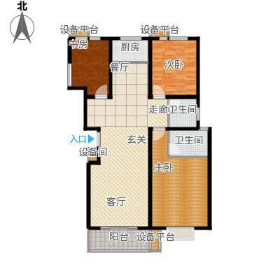 通衢苑3室2厅2卫 134平米户型3室2厅2卫