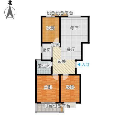 通衢苑3室2厅1卫 121.54平米户型3室2厅1卫