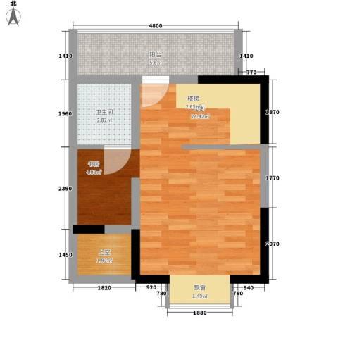 香草天空35.12㎡I型(上层)1面积3512m户型