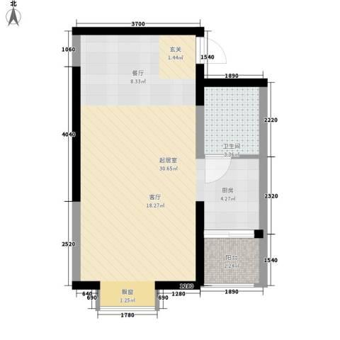 香草天空36.99㎡C型(下层)1面积3699m户型